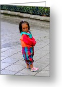Kid Photo Greeting Cards - Cuenca Kids 112 Greeting Card by Al Bourassa