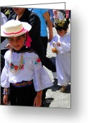 Earrings Photo Greeting Cards - Cuenca Kids 117 Greeting Card by Al Bourassa