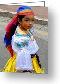 Kid Photo Greeting Cards - Cuenca Kids 210 Greeting Card by Al Bourassa