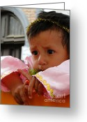 Kid Photo Greeting Cards - Cuenca Kids 211 Greeting Card by Al Bourassa