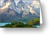 Parks Greeting Cards - Cuernos del Paine - Patagonia Greeting Card by Carl Amoth