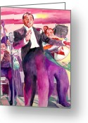 Big Band Greeting Cards - Cugie Greeting Card by David Lloyd Glover