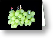 Grape Macro Digital Art Greeting Cards - Cultivation on grapes Greeting Card by Mingqi Ge