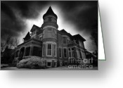Wolfman Greeting Cards - Culver Mansion Greeting Card by Phantasmagoria Photography