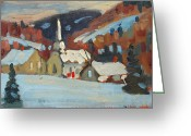 Western Massachusetts Greeting Cards - Cummington Study Greeting Card by Len Stomski