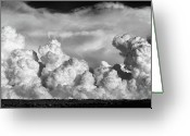 Hail Photo Greeting Cards - Cumulonimbus  Greeting Card by Karen M Scovill