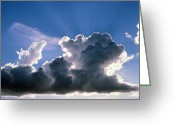 Cumulus Cloud Greeting Cards - Cumulus Cloud Illuminated By The Sun Greeting Card by Pekka Parviainen