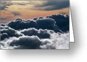 Cumulus Cloud Greeting Cards - Cumulus Cloud Tops From Haleakala Volcano Greeting Card by G. Brad Lewis