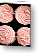 Size Greeting Cards - Cup cakes Greeting Card by Jane Rix