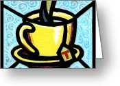 Tea Party Greeting Cards - Cup O T Greeting Card by Jim Harris