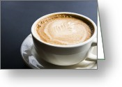 Barista Greeting Cards - Cup of Coffee Greeting Card by Andersen Ross