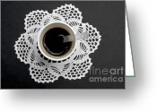 Birds Eye Greeting Cards - Cup of coffee Greeting Card by Bernard Jaubert