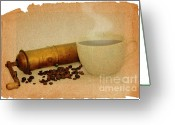 Appliances Greeting Cards - Cup Of Coffee Greeting Card by Michal Boubin