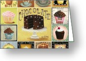 Cake Greeting Cards - Cupcake Mosaic Greeting Card by Catherine Holman