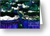Dessert Digital Art Greeting Cards - Cupcakes v3 - Painterly Greeting Card by Wingsdomain Art and Photography