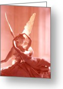 Psyche Greeting Cards - Cupid and Psyche Greeting Card by David Waldo