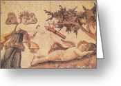 Psyche Photo Greeting Cards - Cupid And Psyche Greeting Card by Photo Researchers