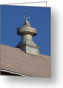 Weathervane Greeting Cards - Cupola Greeting Card by Jenny Hudson