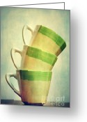  Color  Colorful Greeting Cards - Cups Greeting Card by Kristin Kreet