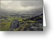 English Countryside Print Greeting Cards - Curbar Edge Derbyshire Greeting Card by Darren Burroughs