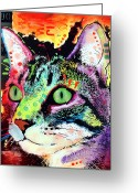 Animal Artist Greeting Cards - Curiosity Cat Greeting Card by Dean Russo