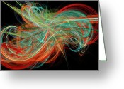 Jewel Tones Digital Art Greeting Cards - Curls Greeting Card by Andee Photography