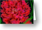 Beauty Greeting Cards - Curly Carnation Greeting Card by Navo Art