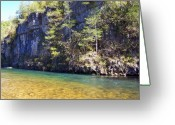 Lanscape Photo Greeting Cards - Current River 7 Greeting Card by Marty Koch