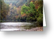 Ozarks Greeting Cards - Current river Fall Greeting Card by Marty Koch