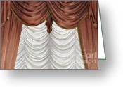 Drapery Greeting Cards - Curtain Greeting Card by Matthias Hauser