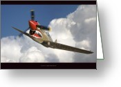 Military Artwork Greeting Cards - Curtiss P-40N Warhawk Greeting Card by Larry McManus