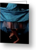 Bare Legs Greeting Cards - Curtsy Greeting Card by Scott Sawyer