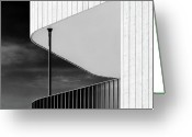 Dave Greeting Cards - Curved Balcony Greeting Card by David Bowman