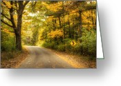 Warm Greeting Cards - Curves Ahead Greeting Card by Scott Norris