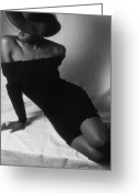 Nudes Greeting Cards - Curves Greeting Card by Jerry Taliaferro