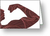 Image Digital Art Greeting Cards - Curves Greeting Card by Luca Pierro PHOTOGRAPHY