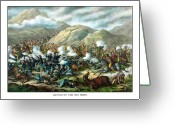 Bighorn Greeting Cards - Custers Last Stand Greeting Card by War Is Hell Store