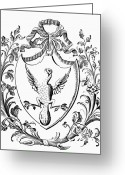 Custis Greeting Cards - Custis: Coat Of Arms Greeting Card by Granger