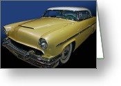 Custom Roadster Greeting Cards - Custom 54 Merc Greeting Card by Bill Dutting