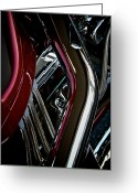 Motorcycle Art Greeting Cards - Custom Bike Greeting Card by Odd Jeppesen