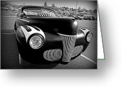 Monochrome Hot Rod Greeting Cards - Custom Ford Greeting Card by Richard Reeve