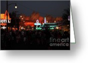Anaheim California Greeting Cards - Customers . We Have Customers At Radiator Spring - 5D17762 Greeting Card by Wingsdomain Art and Photography