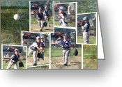Baseball Game Greeting Cards - Customize Scrapbooker Sampler Greeting Card by Cindy Wright