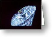 Valuable Greeting Cards - Cut Diamond Greeting Card by Lawrence Lawry