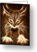 Kittens Digital Art Greeting Cards - Cute Little Kitten Greeting Card by Pamela Johnson