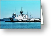 Usmc Base Greeting Cards - Cutter Tampa Greeting Card by Thomas R Fletcher
