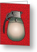 Program Greeting Cards - Cyber Warfare, Conceptual Artwork Greeting Card by Stephen Wood