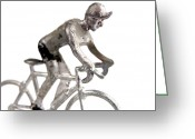 Toy Greeting Cards - Cyclist Greeting Card by Bernard Jaubert