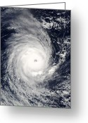 Juliet Greeting Cards - Cyclone Adeline-juliet Moving West Greeting Card by Stocktrek Images