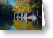 Calcasieu River Greeting Cards - Cypress Bank Greeting Card by Kevin Lawrence Leveque